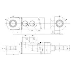 Гидроцилиндр грейфера Liebherr ЦГ-70.50х225S по низкой цене